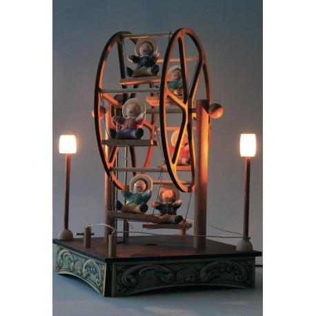 carillon in legno luminoso PICCOLA RUOTA PANORAMICA