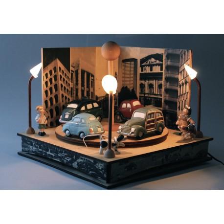 carillon collezione per bambini e adulti in legno, luminoso. Per bambini, neonati e adulti. Regalo per nascita o battesimo auto