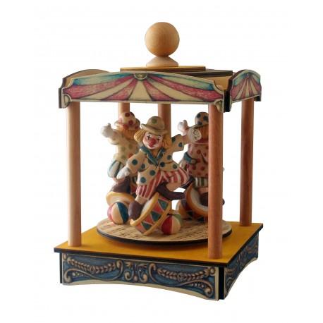 carillon giostra circo, pagliaccio clown, per bambini e adulti, regalo battesimo o nascita. Da collezione.