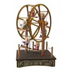 carillon ruota panoramica bimbi, in legno per bambini. Regalo battesimo o nascita. Da collezione per adulti