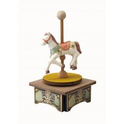 carillon CAVALLO in legno per bambini. Regalo battesimo o nascita. Da collezione