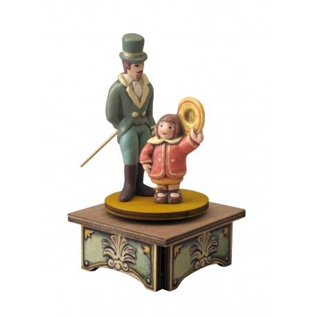 carillon BIMBA in legno per bambini. Regalo battesimo o nascita. Da collezione