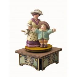 carillon BIMBO in legno per bambini. Regalo battesimo o nascita. Da collezione