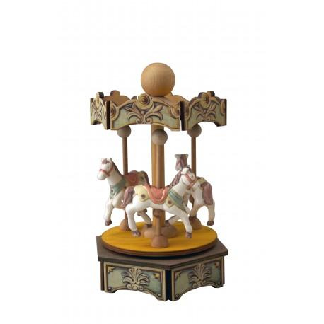 carillon GIOSTRA CAVALLI in legno per bambini. Regalo battesimo o nascita. Da collezione per adulti