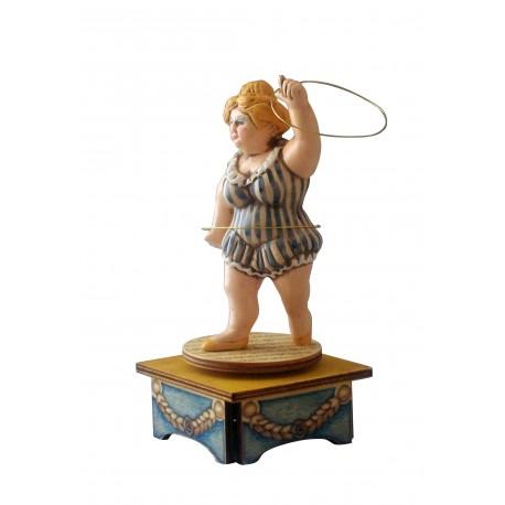 carillon da collezione legno ACROBATA GINNASTA e cerchi