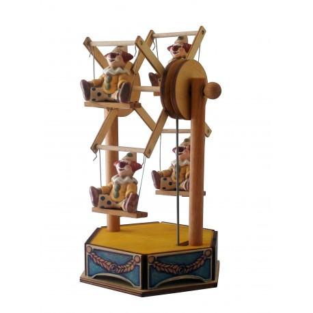 carillon giostra circo, pagliaccio clown, per bambini e bimbi, regalo battesimo o nascita. Da collezione.