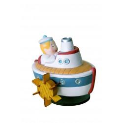 carillon bimbo per neonati e bambini, regalo nascita o battesimo, barca e marinaio. Artigianale made in italy