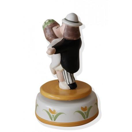 carillon bomboniera o regalo o cake topper, matrimonio anniversario fidanzamento per innamorati, SPOSI DANZANTI