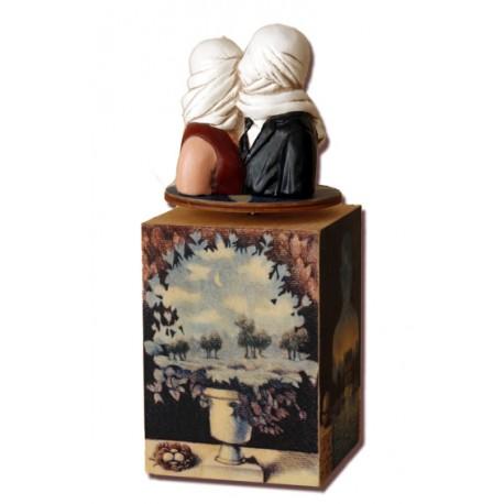 carillon magritte surrealista legno da collezione