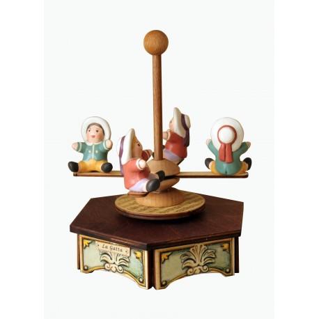 carillon in legno PICCOLA giostra cavalli