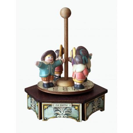 carillon giostra in legno per bambini. Regalo battesimo o nascita. Da collezione
