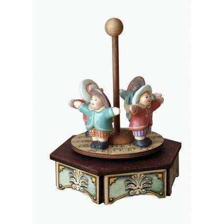 carillon in legno per bambini. Regalo battesimo o nascita. Da collezione