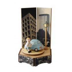 carillon bimbo bambino, per nascita, battesimo, compleanno, 500 macchina legno e ceramica