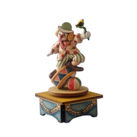 carillon da collezione legno Clown equilibrista