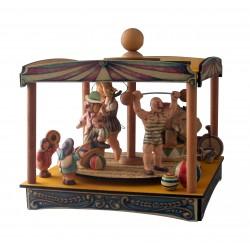 carillon giostra grande circo, pagliaccio clown, per bambini e adulti, regalo battesimo o nascita. Da collezione.