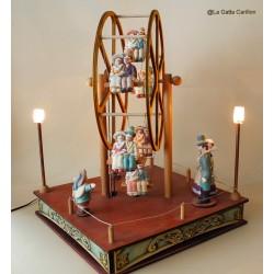 carillon collezione in legno luminoso. Per matrimonio, sposi, anniversari,ricevimento. Regalo per innamorati. Gran ruota panoram
