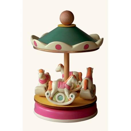 carillon giostra per bambini, regalo nascita e battesimo. giostra cavalli.. Artigianale made in Italy