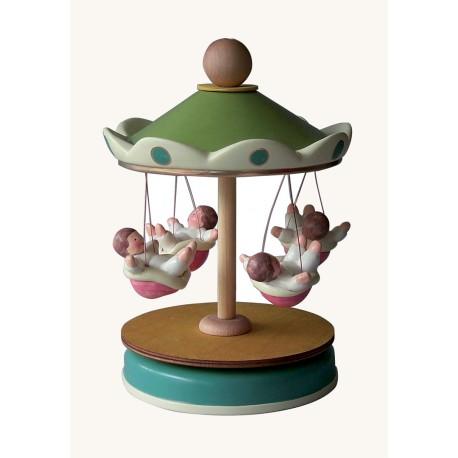 carillon giostra per bambini, idea regalo nascita e battesimo. giostra catenelle.. Artigianale made in Italy
