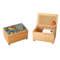 carillon portagioie personalizzato con ballerina. Cofanetto scatola in legno artigianale made in Italy