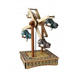 PICCOLA RUOTA GATTI, carillon in legno grande