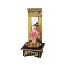 carillon ballerina da collezione in legno per bimba