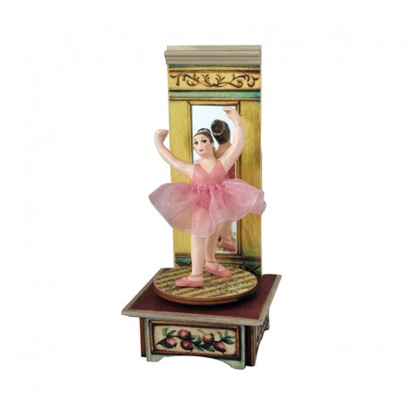 carillon ballerina da collezione in legno