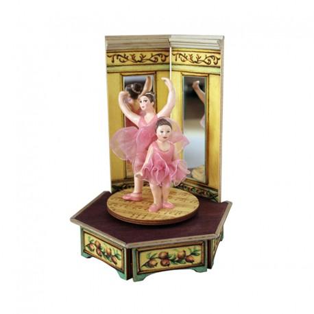 carillon ballerina bimba da collezione in legno giostra ballerine