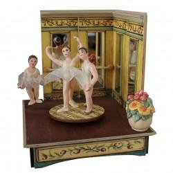 carillon da collezione legno giostra ballerin3