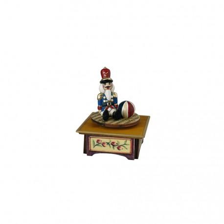 carillon da collezione legno clara e lo schiaccianoci