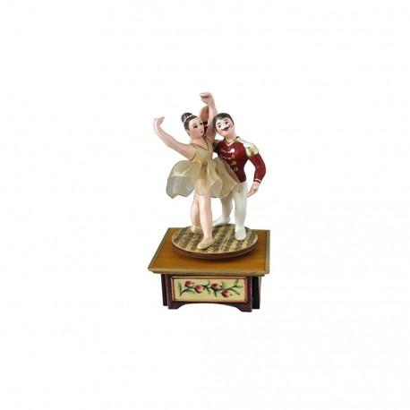 carillon ballerina e ballerino da collezione legno lo schiaccianoci
