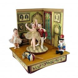 carillon ballerine da collezione legno, lo schiaccianoci
