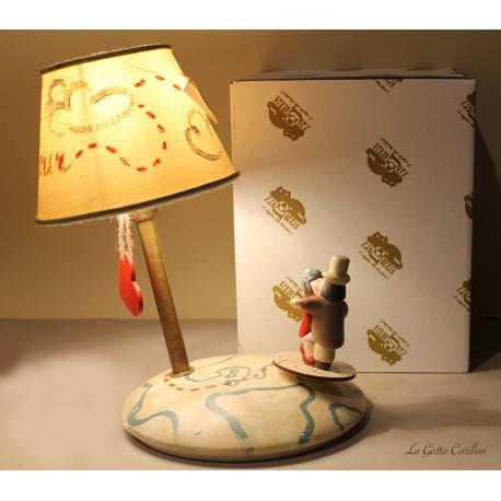 carillon lampada innamorati. Regalo matrimonio, anniversario, compleanno d'amore. Artigianale, made in Italy