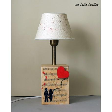 C'est l'amour, carillon lampada artigianale made in italy, regalo innamorati per anniversario fidanzati matrimonio compleanno