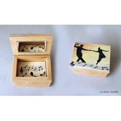 cofanetto carillon scatolina rock and roll in legno da collezione artigianale made in italy 1