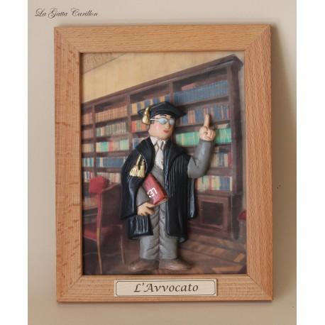 quadro caricatura da collezione avvocato, idea regalo AVVOCATO collezione studio