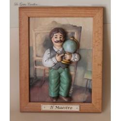 quadro caricatura da collezione il maestro, idea regalo maestro o professore da collezione, per laure.