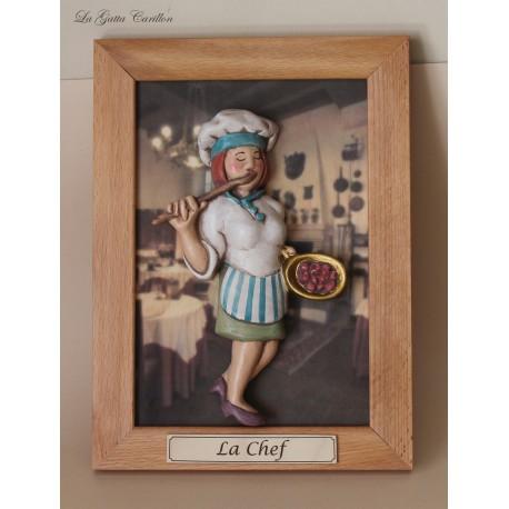quadro caricatura da collezione Architetto, idea regalo CHEF DONNA O CUOCA da collezione, regalo di laurea o inaugurazione
