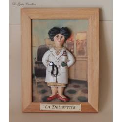 quadro caricatura da collezione Dottoressa, idea regalo dottoressa o medico da collezione, regalo di laurea o inaugurazione