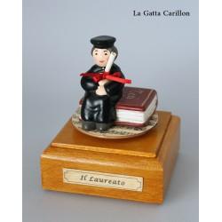 carillon laurea bomboniera LAUREATO, regalo di laurea caricatura
