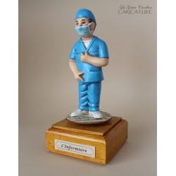 caricatura infermiere carillon da collezione infermiere, regalo laurea professionisti, infermiere, hobbisti, laurea