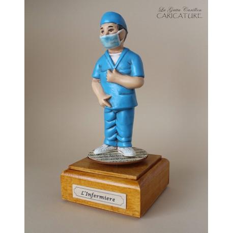 caricatura infermiere carillon da collezione infermiere, regalo laurea professionisti, infermiere