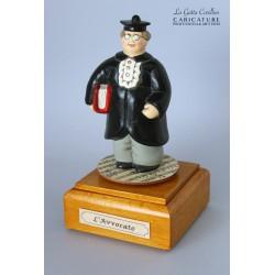 caricatura carillon da collezione AVVOCATO, regalo laurea professionisti, hobbisti, laurea