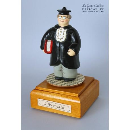 caricatura carillon da collezione AVVOCATO, regalo laurea professionisti, dottore