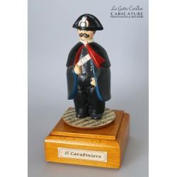 caricatura carillon da collezione carabiniere, regalo professionisti, hobbisti, laurea
