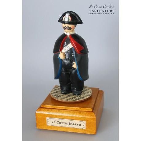 caricatura carillon da collezione carabiniere, regalo professionisti o pensione