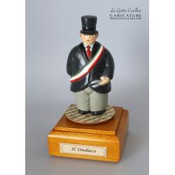 caricatura carillon da collezione SINDACO, regalo professionisti, hobbisti, laurea