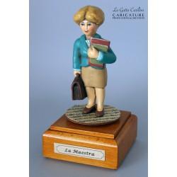 caricatura MAESTRA carillon da collezione carabiniere, regalo professionisti, dottoressa