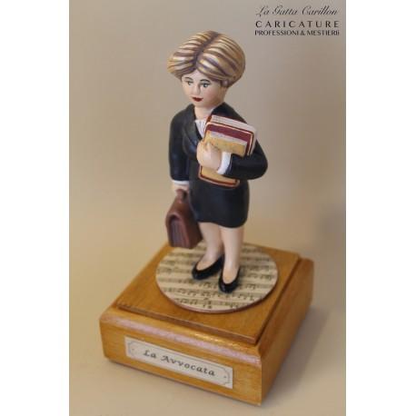 carillon caricatura da collezione AVVOCATA, idea regalo laurea, inaugurazione o pensione collezione studio