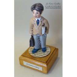 caricatura carillon da collezione COMMERCIALISTA, regalo laurea professionisti, dottore