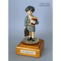 caricatura SEGRETARIA carillon da collezione carabiniere, regalo professionisti, dottoressa